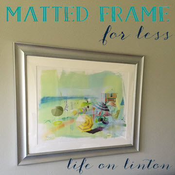 Matted Frame for less