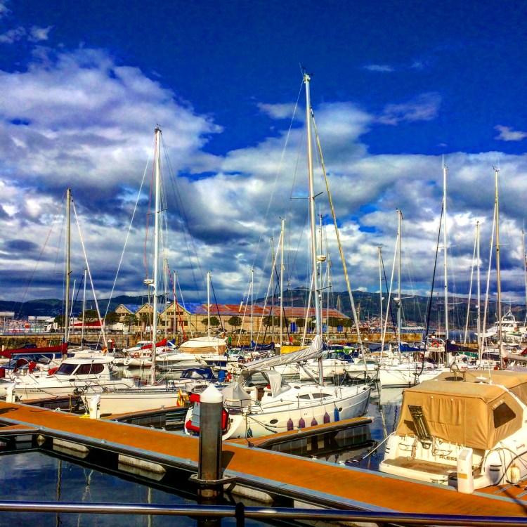 galicia, ports, boats, ocean, mar, sailboat, sail