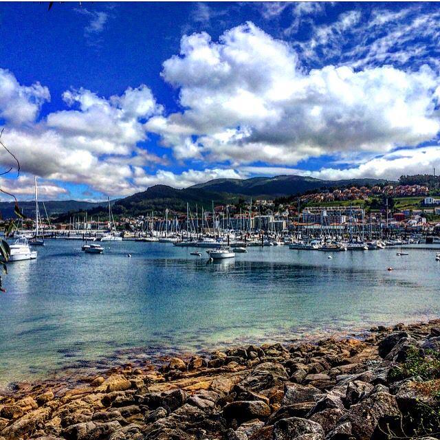 mar, ports, boats, sea, porto, clouds, nature, galicia