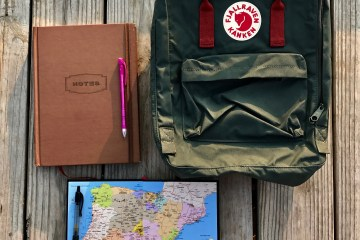 travel, backpack, spain, solo travel, journaling, agenda, notes