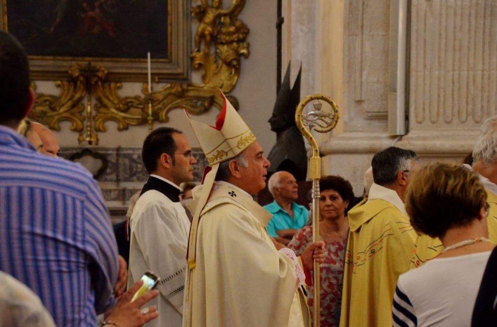 Cathedral S Agata service - Catania, Sicily