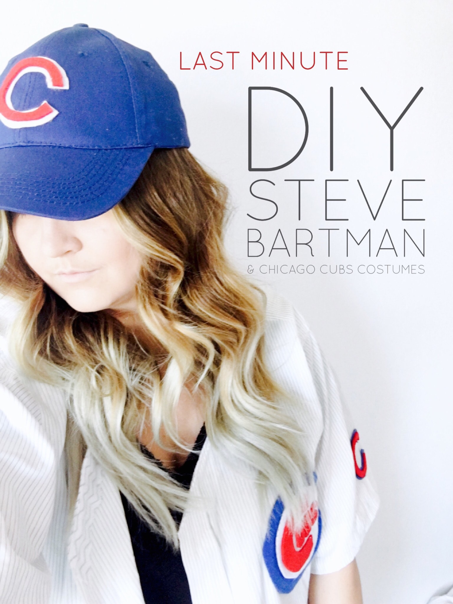 Last Minute DIY Steve Bartman & Chicago Cubs Costumes