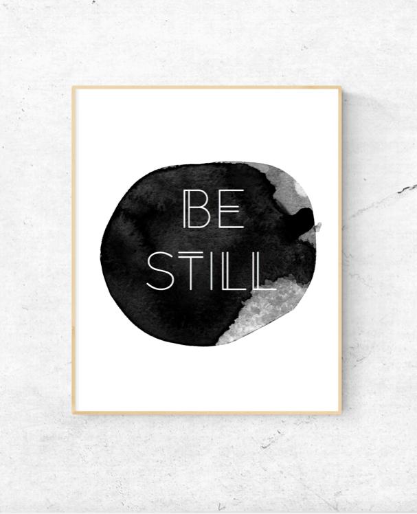 Be Still Watercolor Wall Art