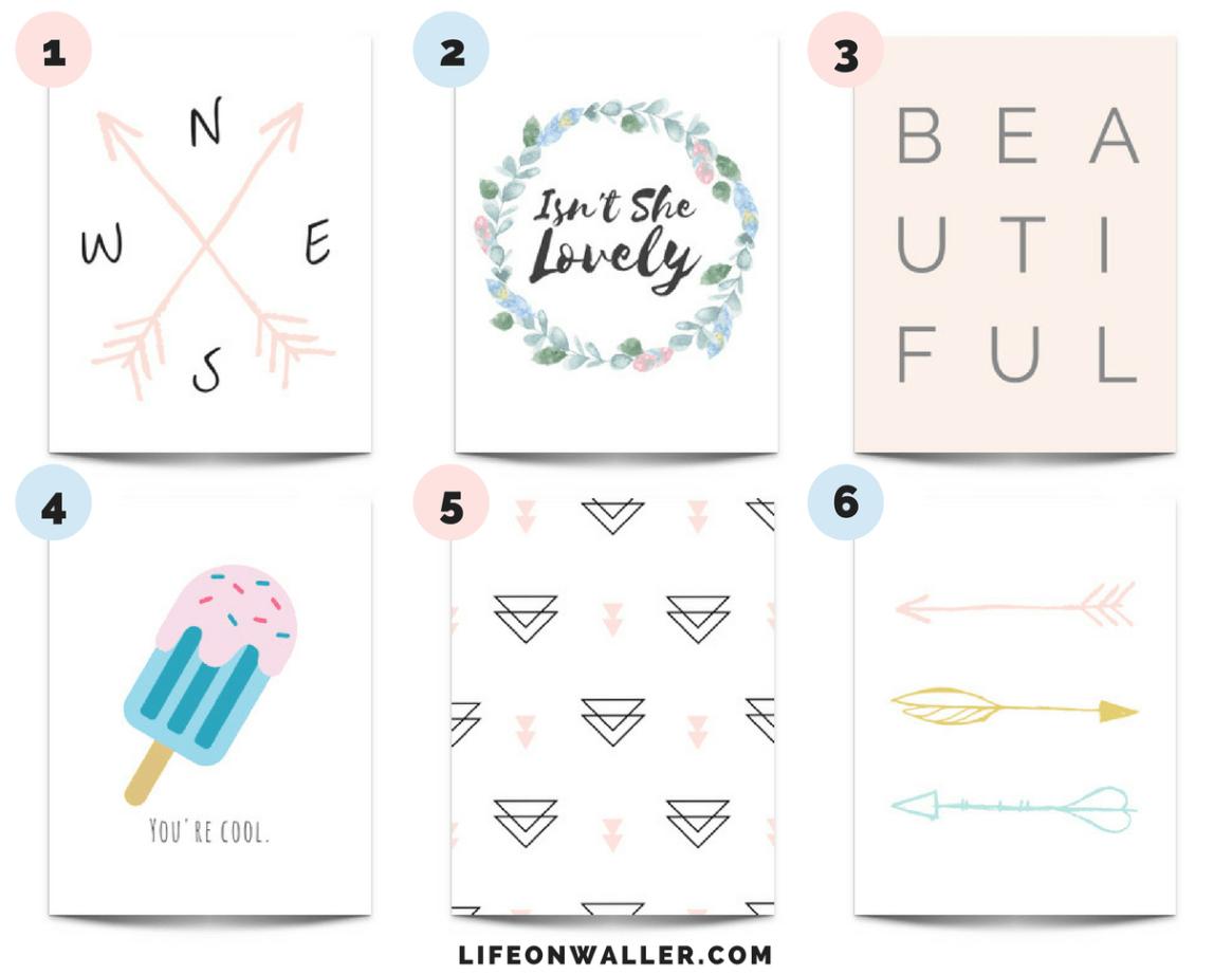 6 Free Girl's Nursery Prints