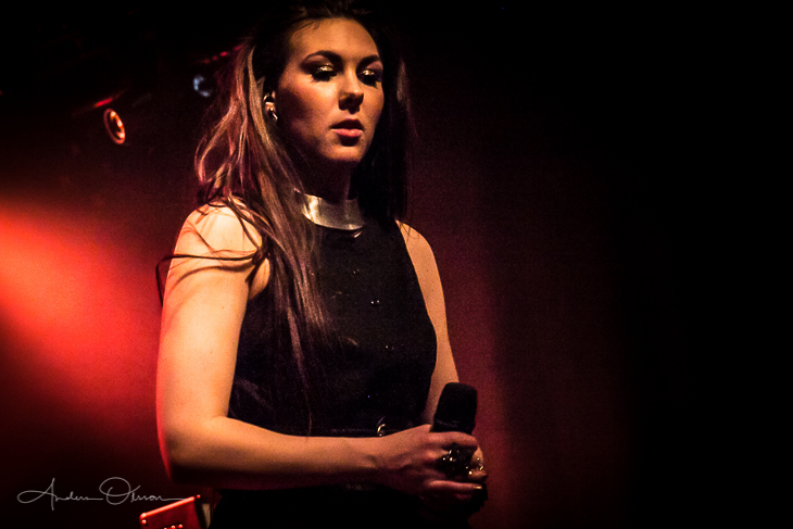 Another photo of Elize Ryd from the band Amaranthe.