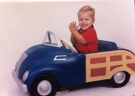 My youngest who has recently received his Driver's License!