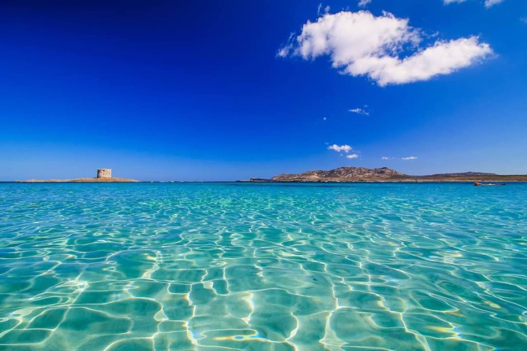 Top 10 Clear Water Beaches - Spiaggia la Pelosa, Sardinia, Italy