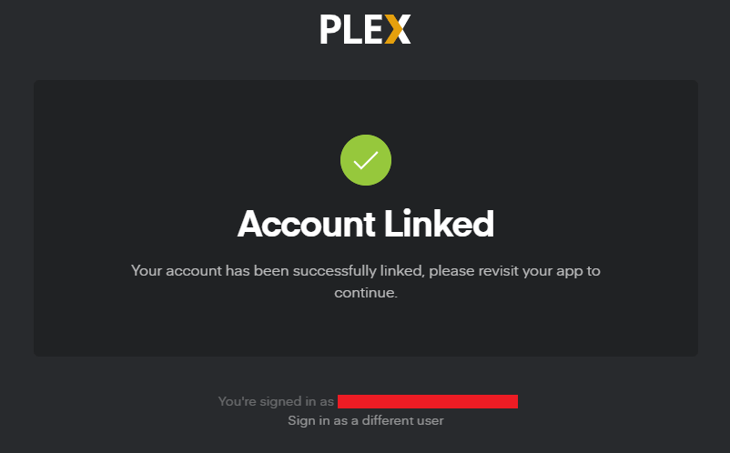 Addon Linked with Plex Account