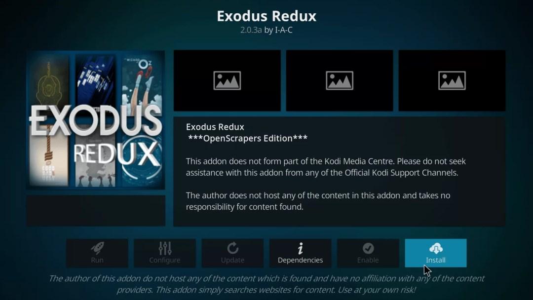 Exodus Redux Kodi Addon