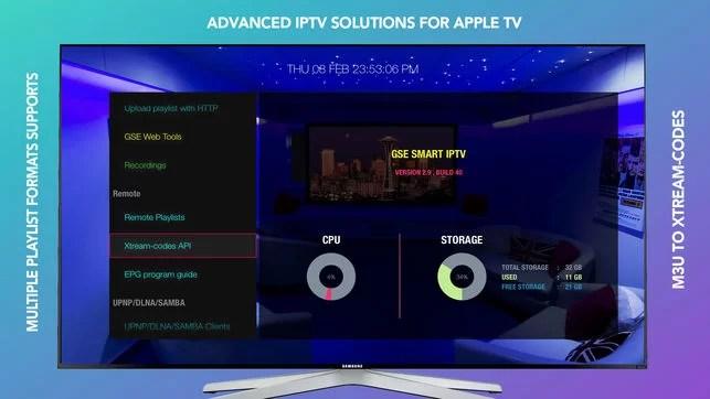 IPTV on Apple TV