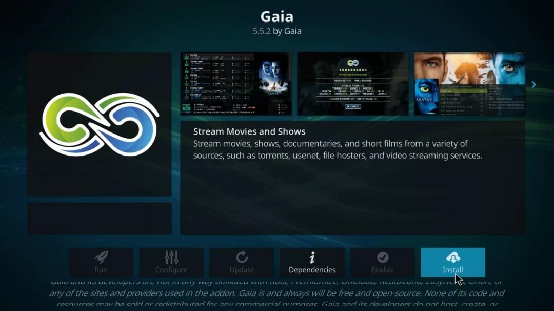 Gaia Kodi Addon