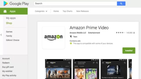 Amazon Prime on Chromebook