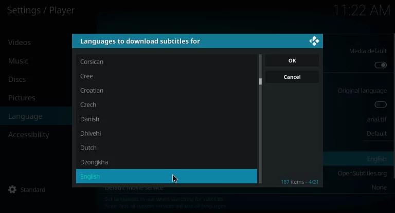 Subtitles on Kodi