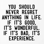 You Should Never Regret …