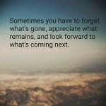 Sometimes You Have To Forget….