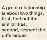 A Great Relationship Is....
