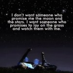 I Don't Want Someone…