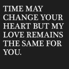 Time May Change Your...