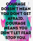 Courage Doesn't Mean You...