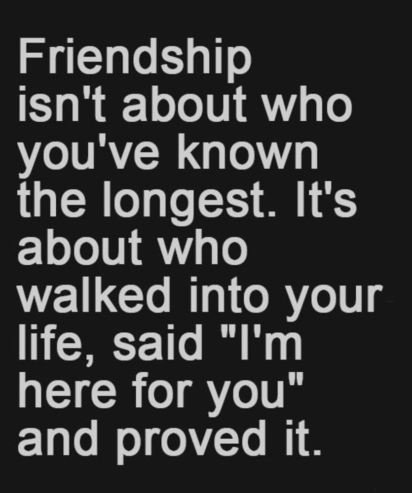 Friendship Isnt About...