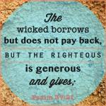 The Wicked Borrows But Doesn't Pay Back....