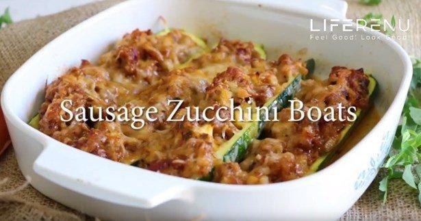 Sausage Zucchini Boats