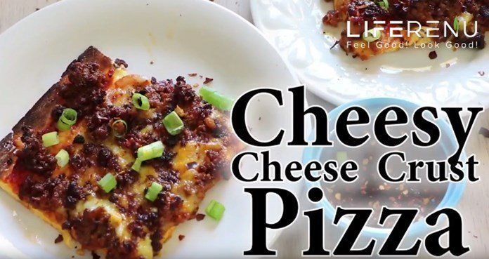 Cheese only pizza crust