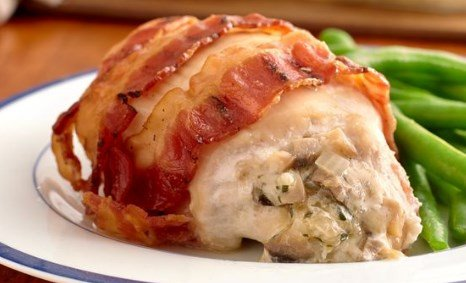 Bacon Wrapped Chicken Cordon Bleu Keto Diet Recipe