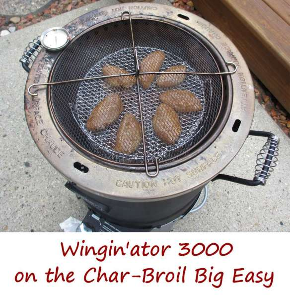 Wingin'ator 3000 on the Char-Broil Big Easy Overhead