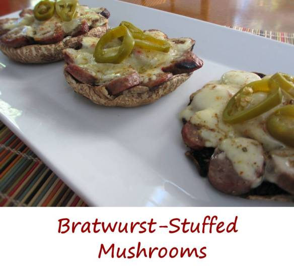 Bratwurst-Stuffed Mushrooms