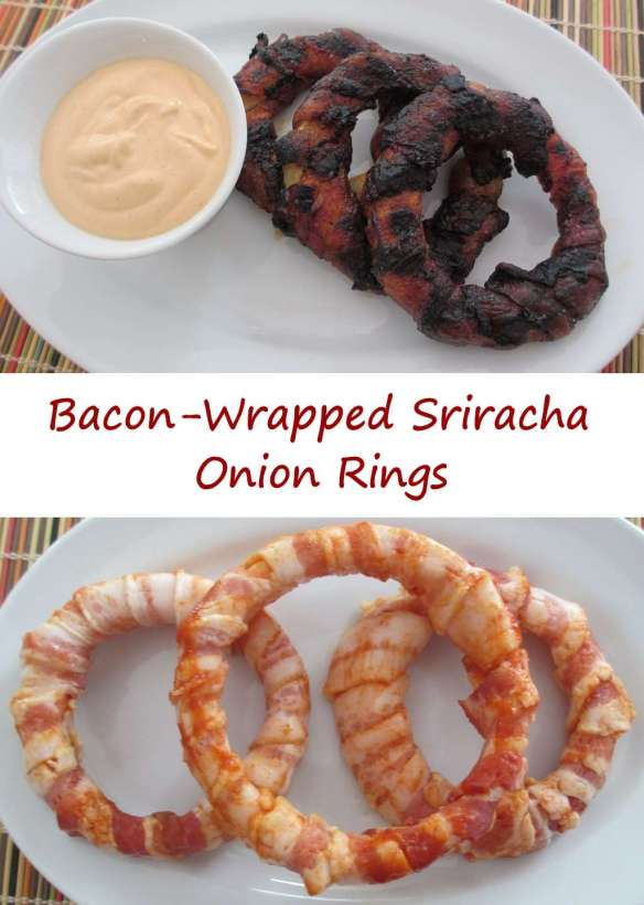 Bacon-Wrapped Sriracha Onion Rings
