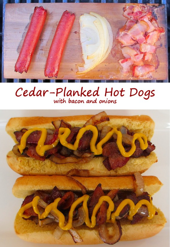 Cedar-Planked Hot Dogs
