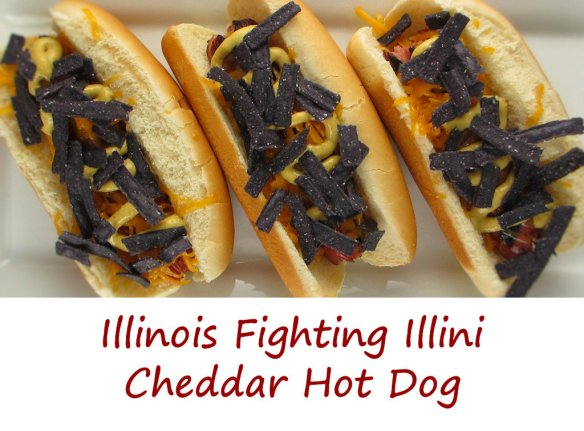 Illinois Fighting Illini Cheddar Hot Dog