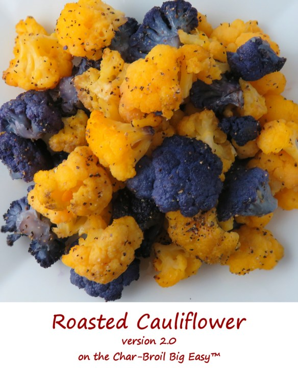 Roasted Cauliflower on the Char-Broil Big Easy