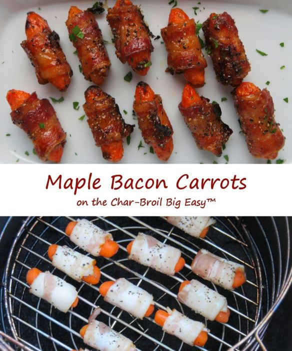 Maple Bacon Carrots on the Char-Broil Big Easy