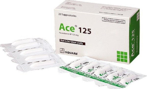 Ace Suppository 125 mg (Square Pharmaceuticals Ltd)