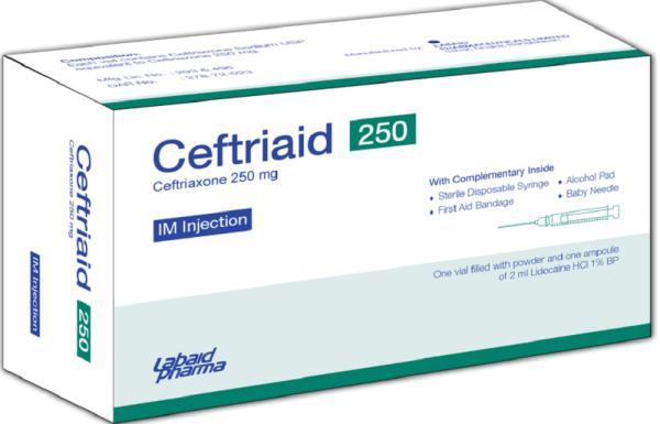 Ceftriaid -IM Injection 250mg Labaid Pharma Ltd