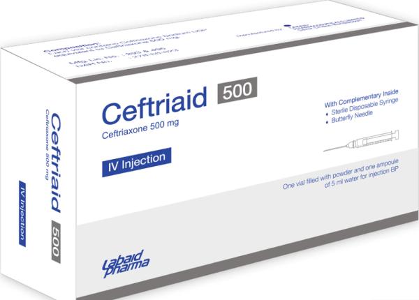 Ceftriaid -IV Injection 500mg Labaid Pharma Ltd