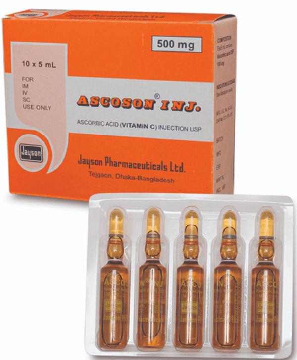 Ascoson- 5 ml ampoule Injection jayson pharmacitical