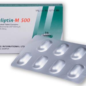 Dialiptin-M 50+500 mg Tablet (Drug International Ltd)