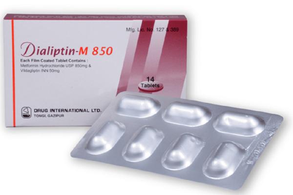Dialiptin-M 50+850 mg Tablet (Drug International Ltd)