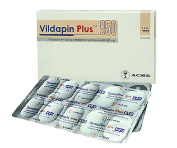 Vildapin Plus 50+850 mg Tablet (ACME Laboratories Ltd)