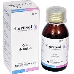 Cortisol- Oral Solution (5 mg-5 ml) 50 ml bottle( Aristopharma )
