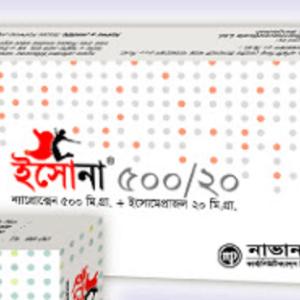Esona- Tablet 500 mg+20 mg navana