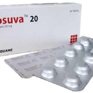 Rosuva - 20 mg Tablet ( Square )