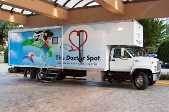 The Doctor Spot mobile pediatric unit