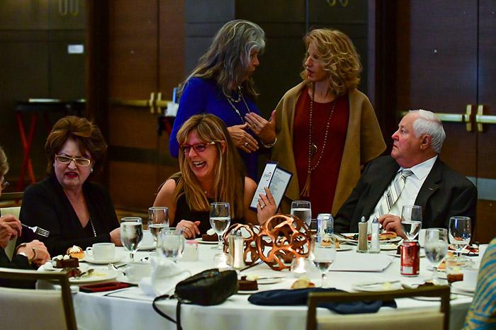 Reception Guests Talking
