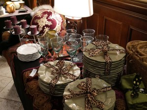 dishware for sale at charity boutique