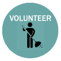 volunteer icon with person sweeping