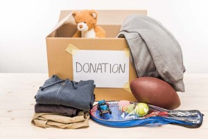 Box with toy donations